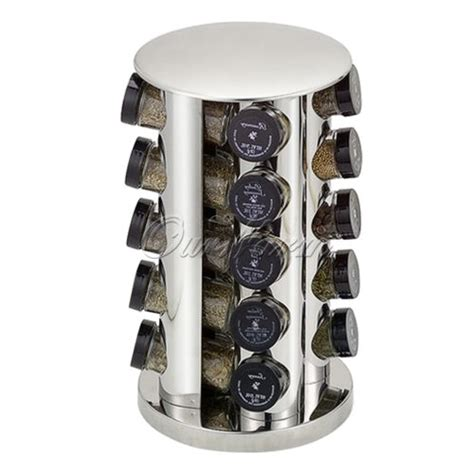 Stainless Steel 20 Jar Spice Rack by Rotating 20 Jars Stainless Steel Spice Rack Stand Tower