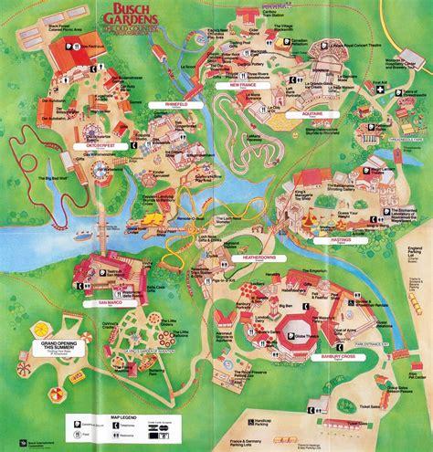 busch gardens locations theme park brochures busch gardens the country