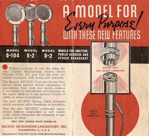 astatic model   vintage mikes