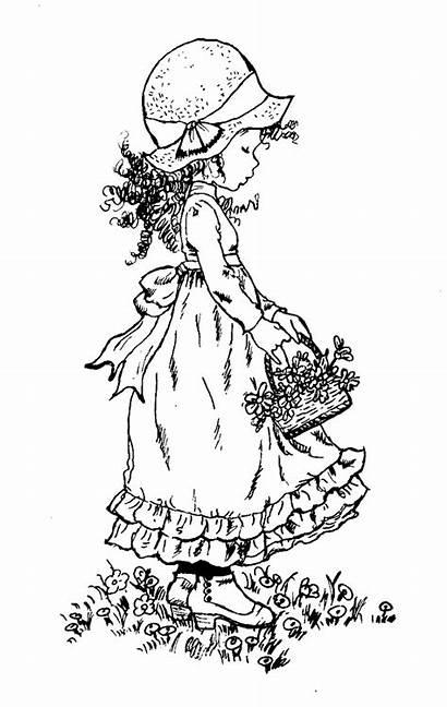 Sarah Coloring Kay Key Pages Basket Flowers