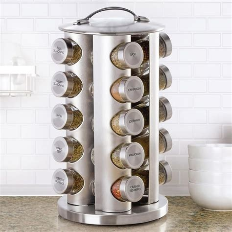 Spice Rack Costco by Kamenstein 20 Jar Stainless Steel Revolving Spice Rack