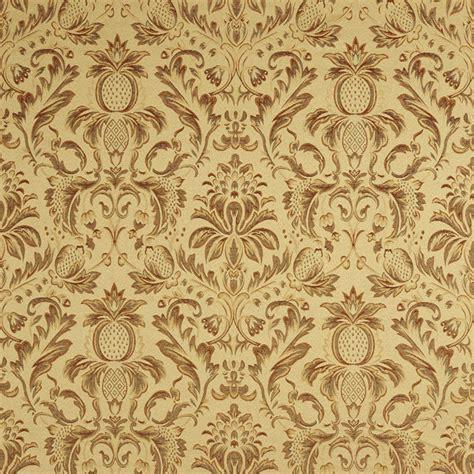 palazzo fabrics sage green orange gold burgundy pineapple damask upholstery fabric by the yard