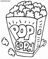 Popcorn Coloring Printable Pages Box Corn Pop Snack Drawing Sheets Healthiest Kernel Container Template Foer Bildresultat Google Sheet Turtle Se sketch template