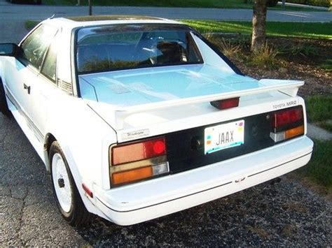 toyota two seater sports car sell used 1986 toyota mr2 sport car 2 seater white 5 speed