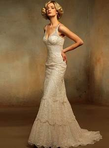 vintage style lace wedding dresses With old style wedding dresses