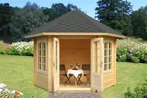 Gartenpavillon Holz Geschlossen : garten pavillon laube dorle 6eck sams gartenhaus shop ~ Whattoseeinmadrid.com Haus und Dekorationen