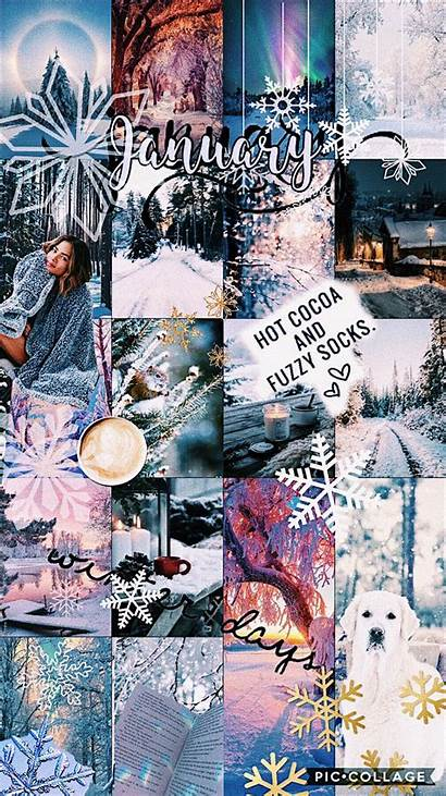 Vsco January Aesthetic Wallpapers Collage Edit Winter