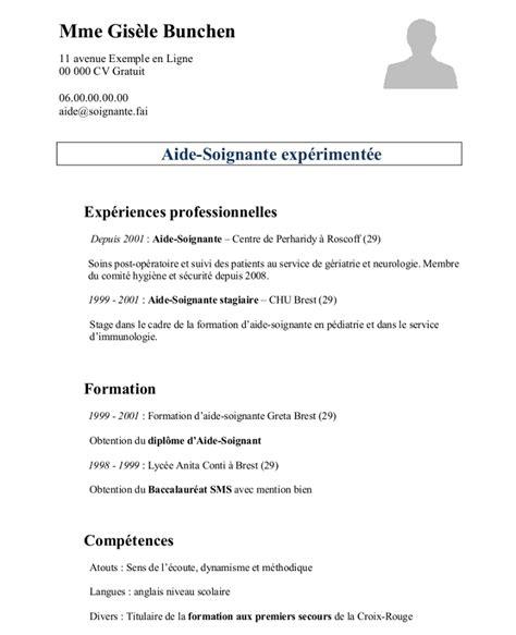 Comment Préparer Un Cv by Comment Pr 233 Parer Un Cv En Fran 231 Ais Modele Cv Facile