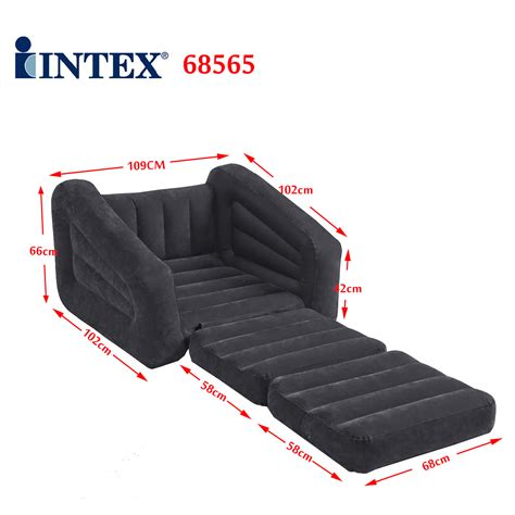 intex inflatable 1 person pull out chair sofa air bed