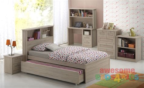 Bedhead Bookcase by Broadbeach King Single Trundle Bed Beds King