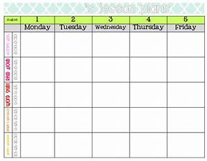 weekly lesson plan format images frompo 1 With free editable weekly lesson plan template