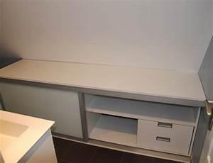 Meuble Salle De Bain Bas : meuble bas salle de bain porte coulissante ~ Teatrodelosmanantiales.com Idées de Décoration
