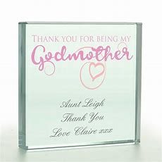 Personalised Thanks For Being My Godmother Token
