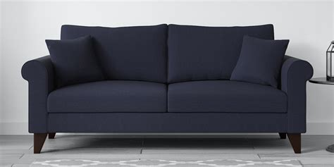 The coffee table can also be used as a couch table, living room table, side table, etc. Buy Fuego 3 Seater Sofa in Navy Blue Colour by CasaCraft Online - Rolled Arms Sofa Sets - Sofa ...