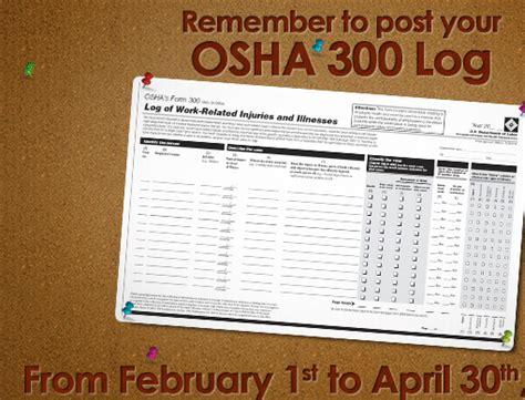 statutory requirement  review  post osha form