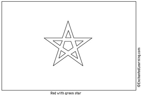morocco flag coloring coloring pages