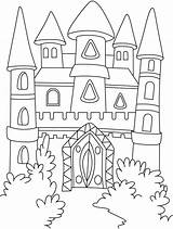 Castle Coloring Pages Princess Printable Getcoloringpages sketch template