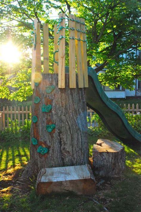fun  garden tree stumps  awesome ways