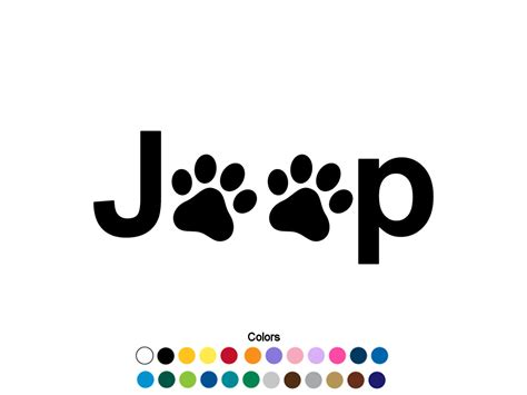 jeep beach decals jeep paw print decal jeep sticker jeep decal paw print sticker