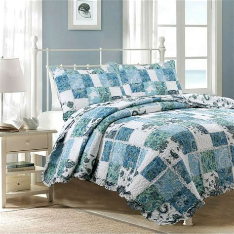 Cotton Coverlet by Calypso 100 Cotton Quilt Set Bedspread Coverlet Ebay