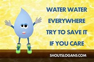 What is an example of a slogan related to water pollution ...