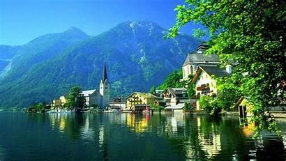 Austria Wallpapers Hallstatt Travel Nature Backgrounds Lake