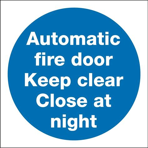 Automatic Fire Door Keep Clear Close At Night Signs  From. Visually Impaired Signs. Playoff Raptors Murals. Diy Love Letter Lettering. Trip Banners. Japanese Signs. Winery Murals. Hormonal Imbalance Signs Of Stroke. Man Lego Helmet Stickers