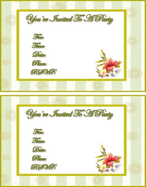 invitations to print free free girls season invitations free printable invitation