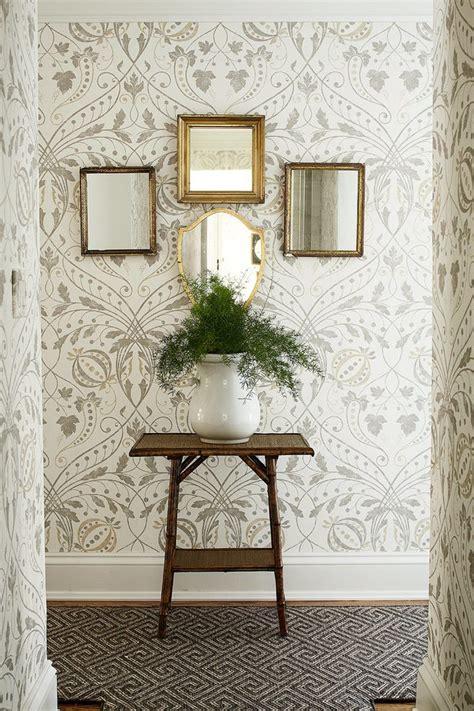 hall wallpaper design hall traditional  framed mirrors