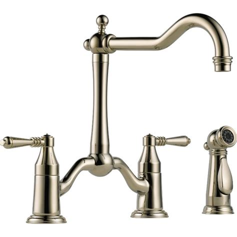 two handle kitchen faucets buy brizo 62536lf two handle bridge kitchen faucet with