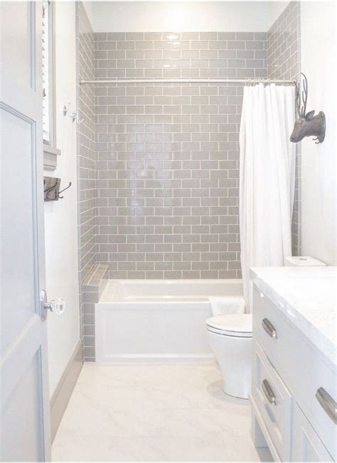 Amazing Bathroom Small Gray Tile Grey Subway Ideas Photos