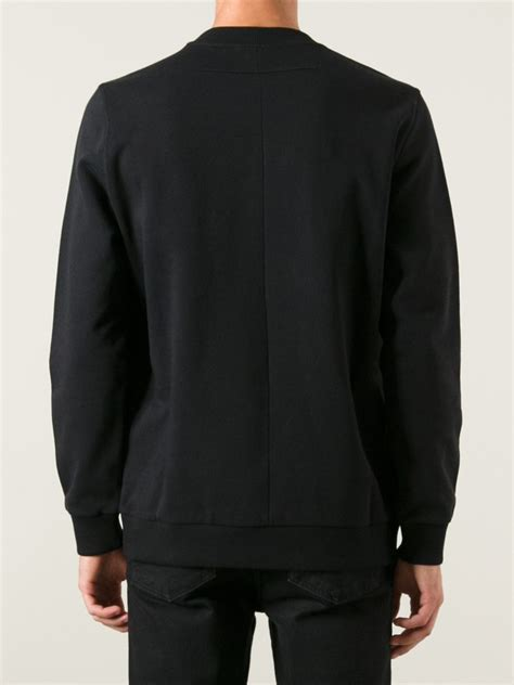 lyst givenchy printed sweater  black  men