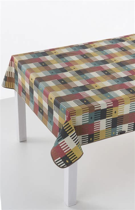 kalim red oilcloth tablecloth