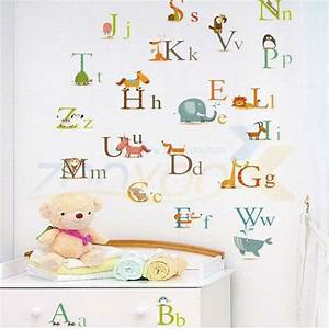 free shipping alphabet wall sticker for kids room With wall sticker letters removable