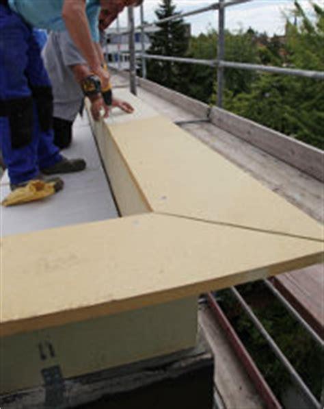 flachdach ohne attika dachrandabschluss beim flachdach