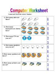 teaching worksheets computers
