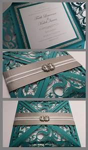 best 25 teal wedding invitations ideas on pinterest With laser cut wedding invitations teal