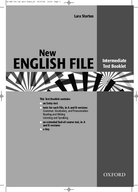 english file intermediate tests oxford exam advanced