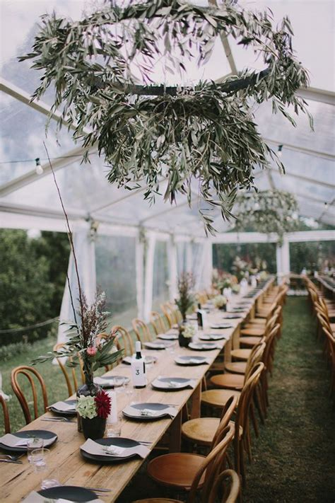 Australian Bush Wedding Decor | Fall wedding tablescapes