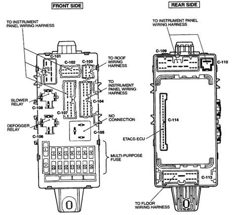 Fuse Box Diagram Mitsubishi Eclipse Spyder Schemes