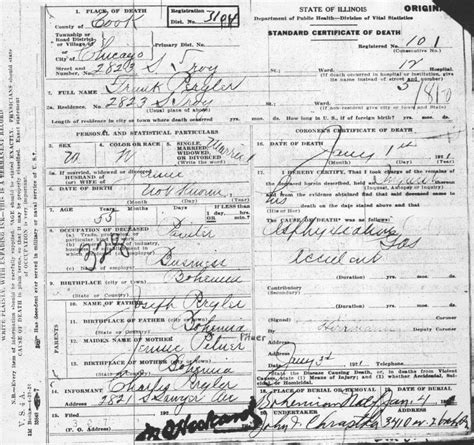 Chicago Illinois Birth Certificates
