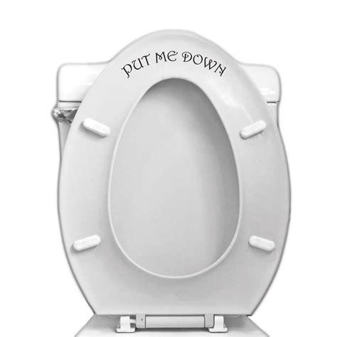 put me toilet seat vinyl decal for bathroom toilet vinyl revolution