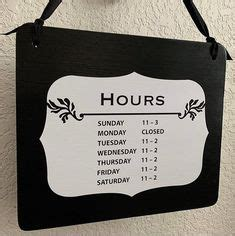 business hours sign images business hours sign