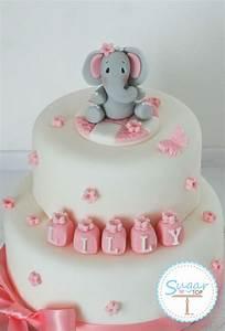 ELEPHANT CAKE TOPPER DECORATION SET CHRISTENING BIRTHDAY