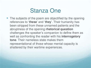 The Wound Dresser Stanza Analysis by Mental Cases Analysis