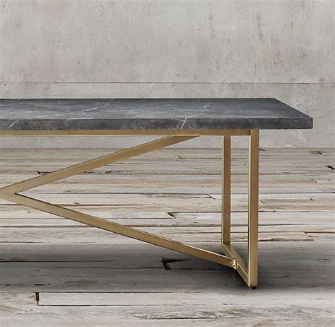 More the oak pieces used to build this restoration hardware coffee table were reclaimed from old russian buildings. Torano Marble Rectangular Dining Table | Dining table legs, Dining table