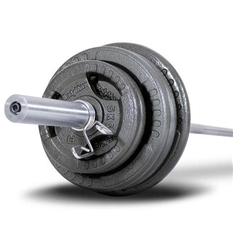 bodymax kg olympic cast tri grip barbell kit  ft bar shop  powerhouse fitness