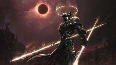 Knight Demon Warrior Cyborg Artwork Mythology Fantasy