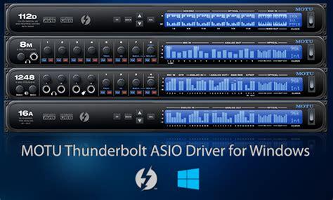 MOTU.com - MOTU announces Windows Thunderbolt support at