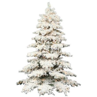heavily flocked christmas tree favorite things pinterest